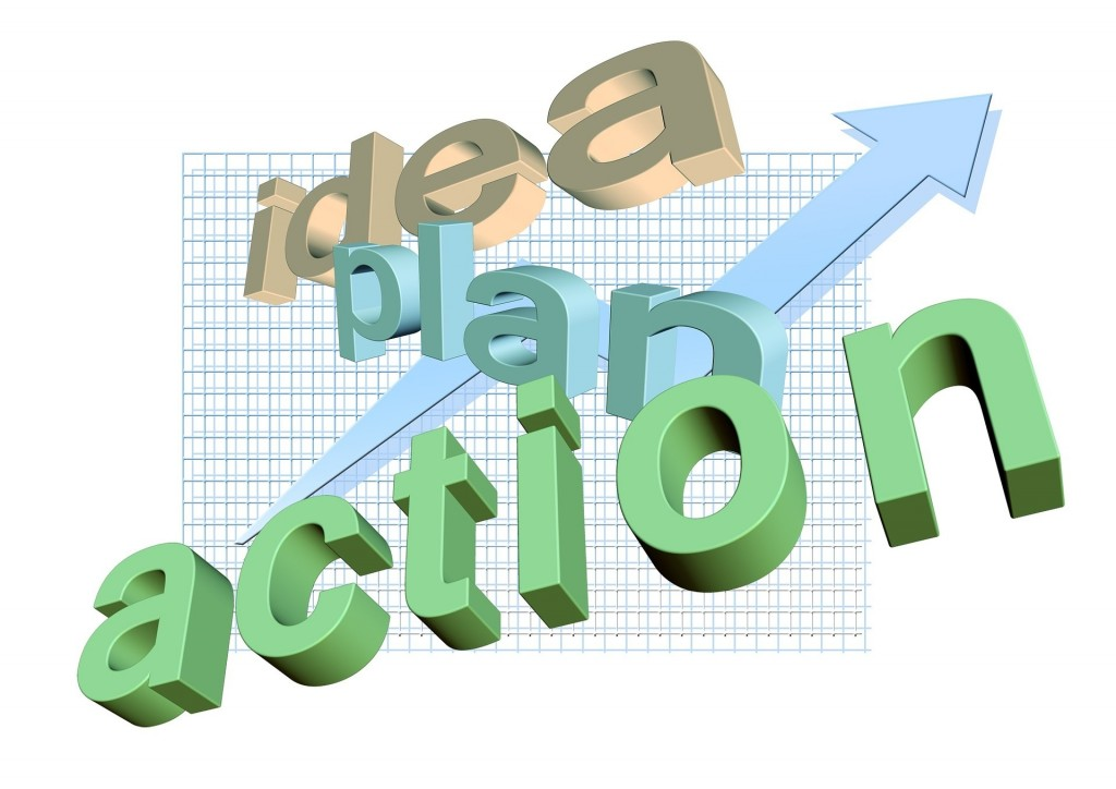 business, idea, action, plan